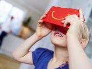 McDonald's выпустит свой вариант гарнитуры виртуальной реальности Google Cardboard из упаковки для Happy Meal (видео)