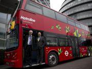 В Лондоне появился первый в мире двухэтажный электрический автобус (даблдекер)
