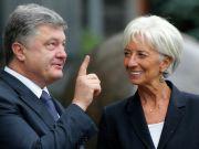"""Глава МВФ Лагард назвала """"конструктивными"""" переговоры с Порошенко: О чем договорились"""
