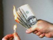 В Одессе гривны меняли на сувенирные доллары