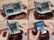 Samsung патентує складний смартфон з вбудованим проектором