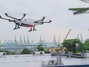 Дрон-курьер от Airbus совершил первый тестовый полет в Сингапуре