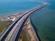 Построен первый ж/д путь Крымского моста (фото)