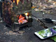 Піч Tengu швидко заряджає гаджети від звичайного вогню