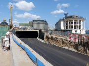 В Киеве открыто движение через тоннель на Почтовой площади