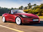 Tesla Model 3 предстала в образе кабриолета