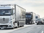 Daimler испытает колонны беспилотных грузовиков в США