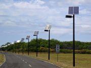 Укравтодор устанавливает на дорогах освещение на солнечных батареях