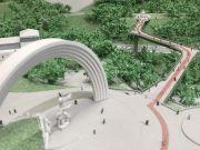 Кличко показал видео заключительного этапа строительства моста над Владимирским спуском
