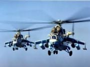 В аэропорт Мариуполя прилетели 5 украинских военных вертолетов с десантом, вооруженным гранатометами и снайперскими винтовками