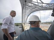 Кличко показав відео, як будують Подільсько-Воскресенський мостовий перехід (відео)