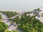 КГГА уже заплатила 100 млн гривен за новый велосипедно-пешеходный мост