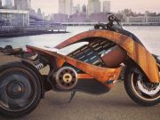 Newron випустить електромотоцикл з «гнутим деревом»