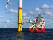 Германия открывает большую ветровую электростанцию в Балтийском море