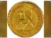 Монету с изображением Джорджа Вашингтона продали на аукционе за $1,7 млн