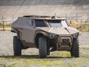Создан военный бронеавтомобиль, способный ездить боком